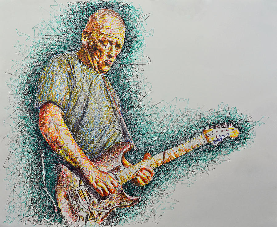 Dave Gilmour Drawing by Breyhs Swan