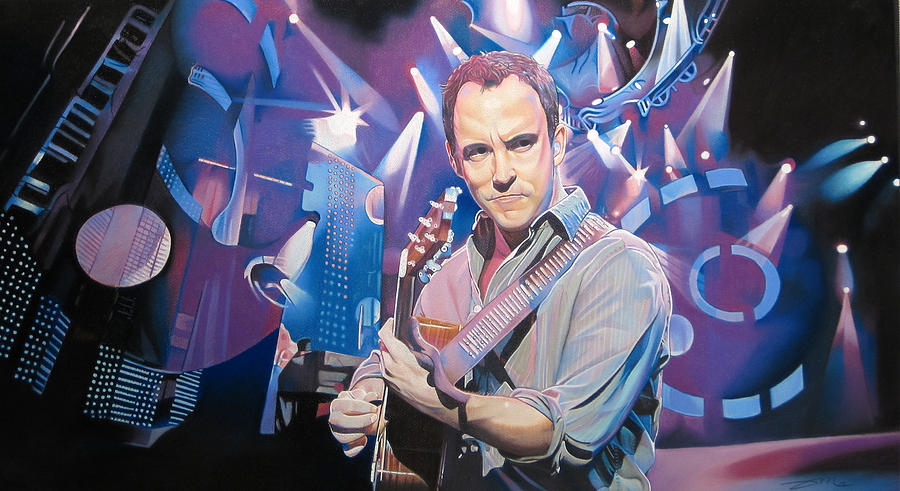 Dave Matthews Drawing - Dave Matthews And 2007 Lights by Joshua Morton