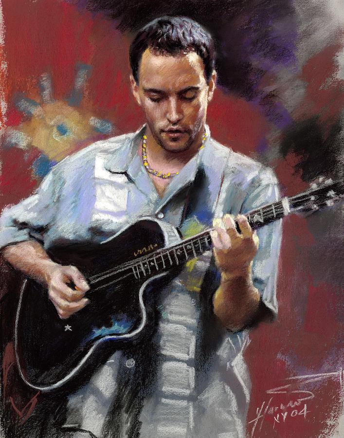 Dave Matthews Drawing - Dave Matthews by Viola El