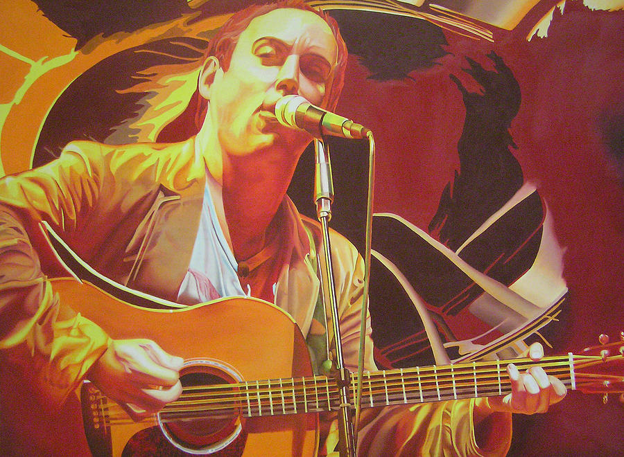 Dave Matthews Painting - Dave Matthews At Vegoose by Joshua Morton