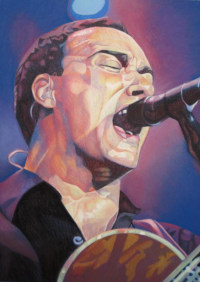 Dave Matthews Drawing - Dave Matthews Colorful Full Band Series by Joshua Morton