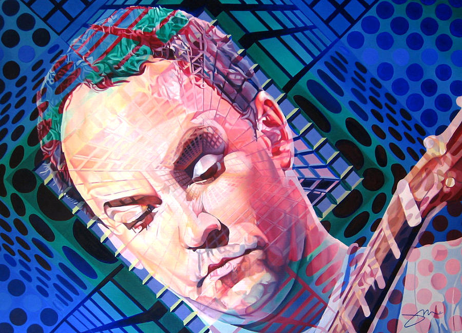 Dave Matthews Painting - Dave Matthews Open Up My Head by Joshua Morton