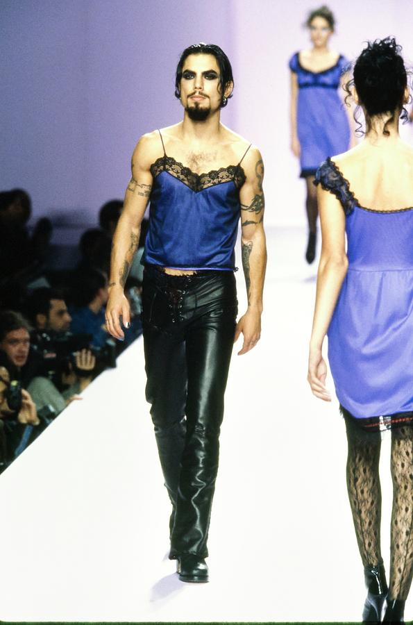 Dave Navarro On The Runway For Anna Sui Photograph by Guy Marineau