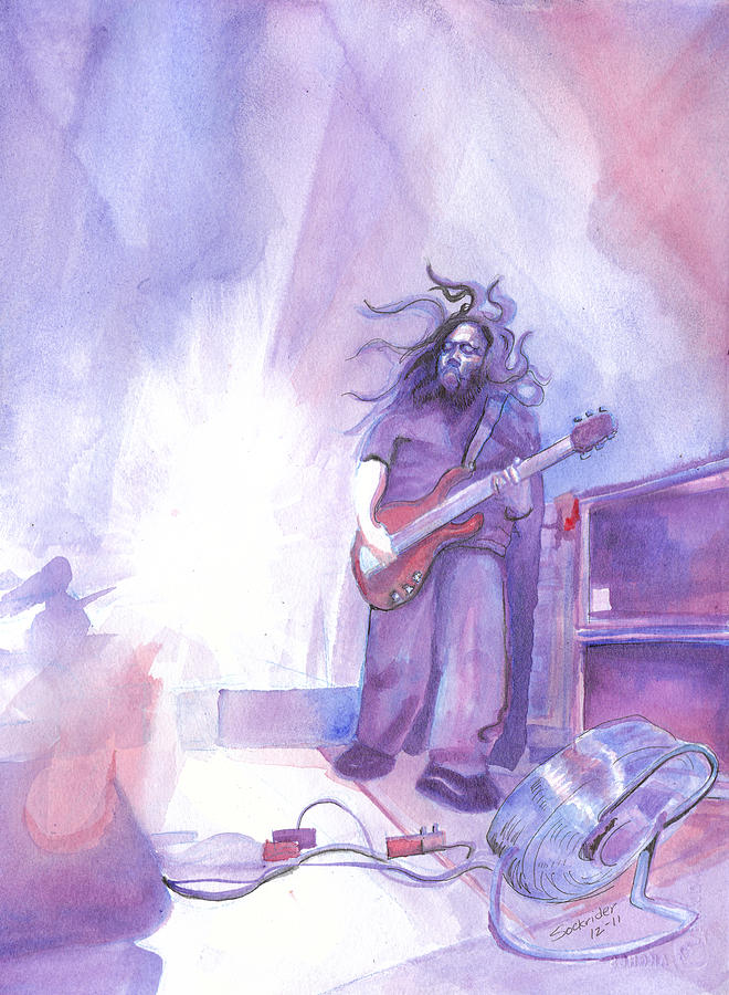 Widespread Panic Painting - Dave Schools by David Sockrider