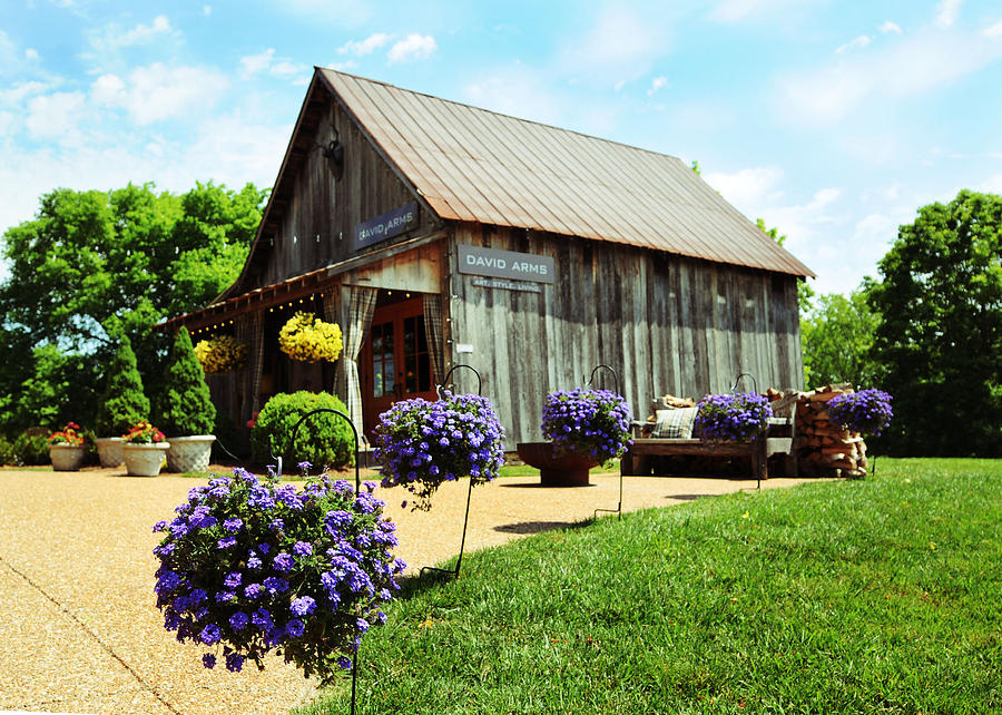 Barn Photograph - David Arms Gallery by Gary Prather