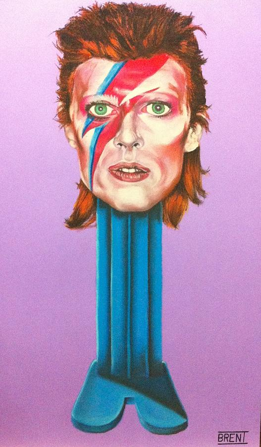 David Bowie Drawing - David Bowie by Brent Andrew Doty