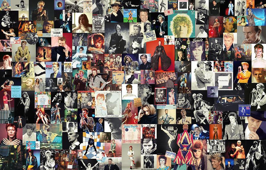 David Bowie Digital Art - David Bowie Collage by Zapista OU