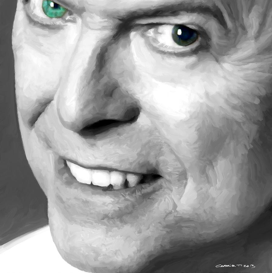 David Bowie Digital Art - David Bowie in clip Valentines Day - 2 by Gabriel T Toro