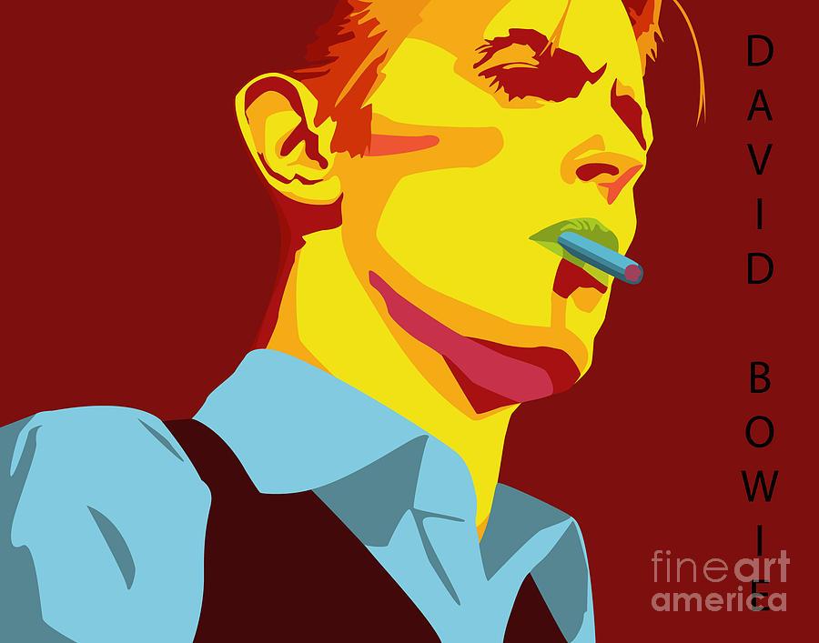 David Bowie Digital Art by Patrick Collins