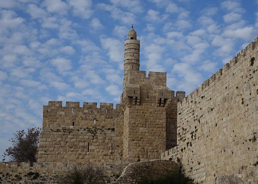 David's Citadel Jerusalem by Rita Adams