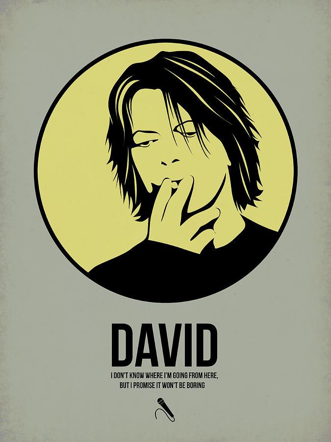 Music Digital Art - David Poster 4 by Naxart Studio