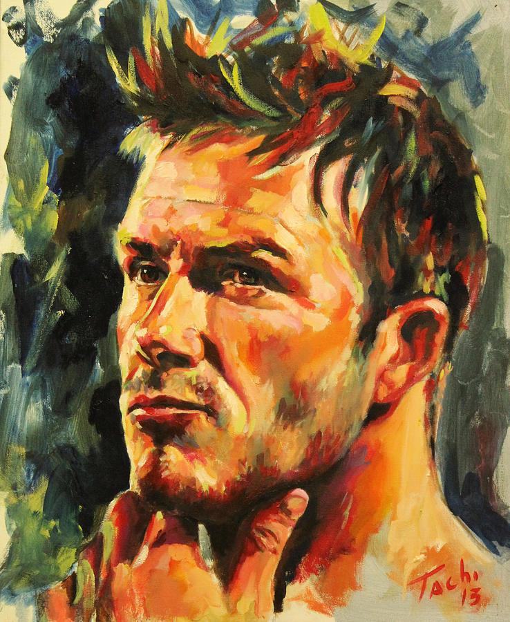 David Beckham Painting - David by Tachi Pintor