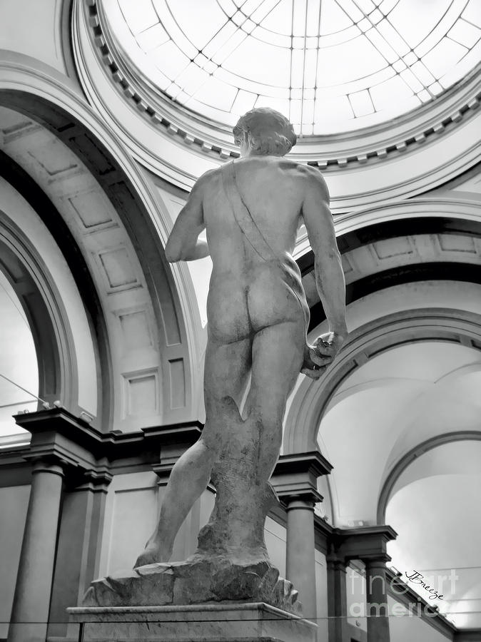 David Photograph - David.black White  by Jennie Breeze