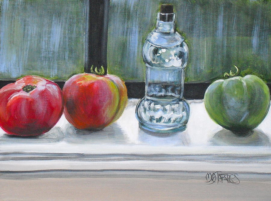 Tomatos Painting - Davids Tomatos by Melissa Torres