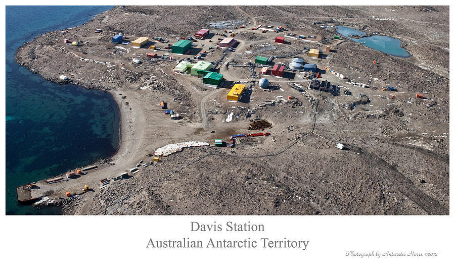 Antarctic Landscape Photograph - Davis Station 2012 by David Barringhaus