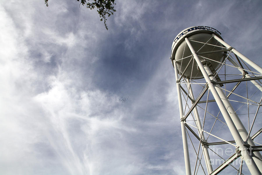 Uc Photograph - Davis Water Tower by Juan Romagosa