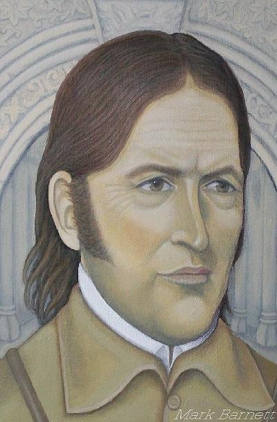 Davy Crockett Painting - Davy Crockett by Mark Barnett