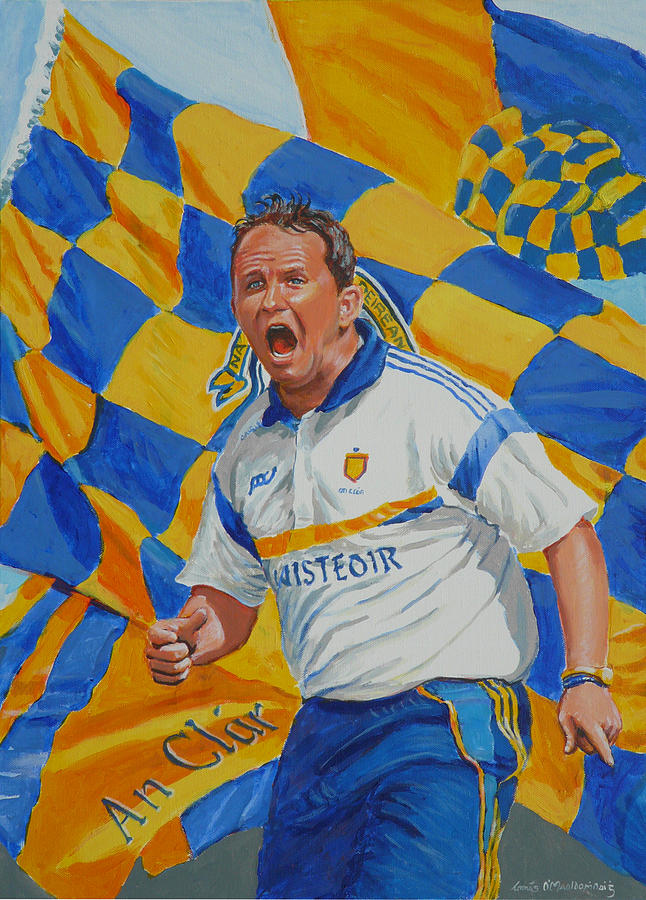 Clare Painting - Davy Fitz Hurling Champion 2014 by Tomas OMaoldomhnaigh