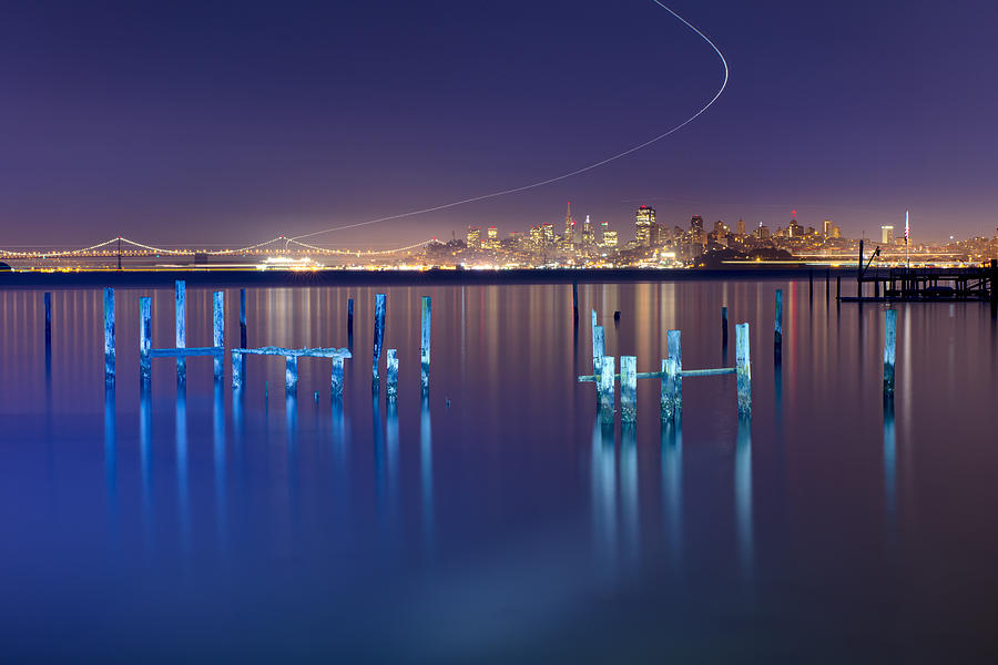 Long Exposure Photograph - Dawn Colors - Sausalito by David Yu