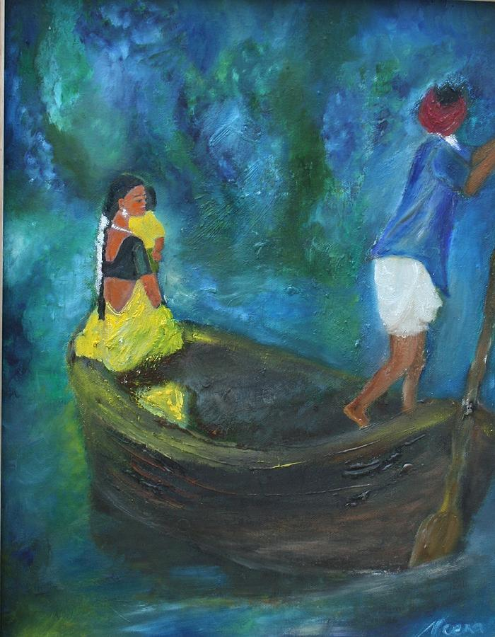 Water Painting - Dawn Crossing by Neena Alapatt