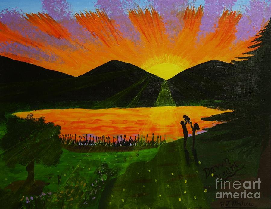 Landscape Painting - Dawn Dream by Vicki Maheu