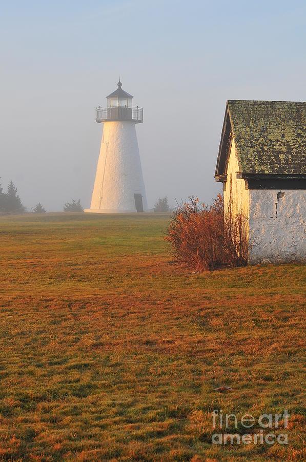 Lighthouse Photograph - Dawn Fog by Catherine Reusch Daley