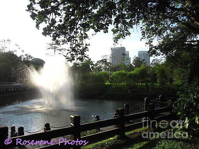 Dawn Fountain Photograph by Roserene