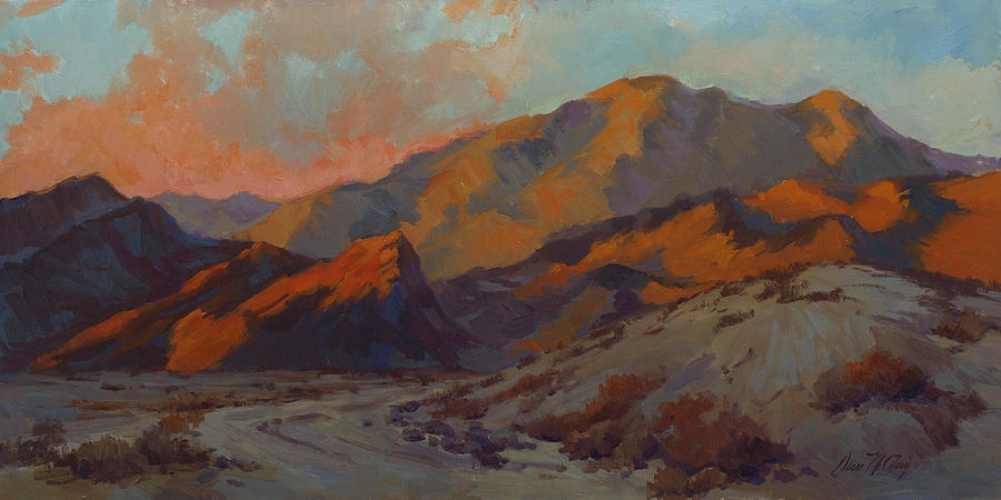 Dawn Painting - Dawn In La Quinta Cove by Diane McClary