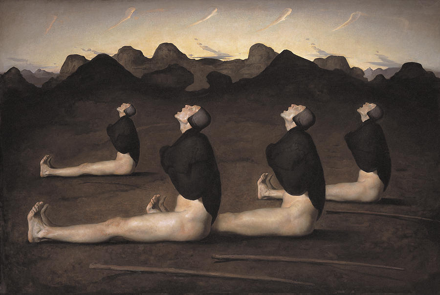 Oil Painting - Dawn by Odd Nerdrum