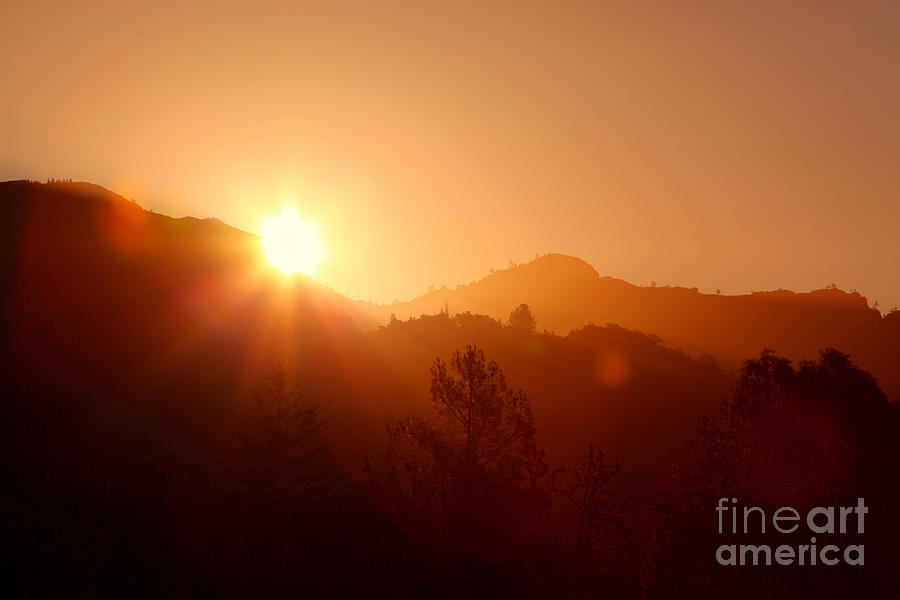 Dawn Photograph - Dawn Over Calistoga by Posterity Productions