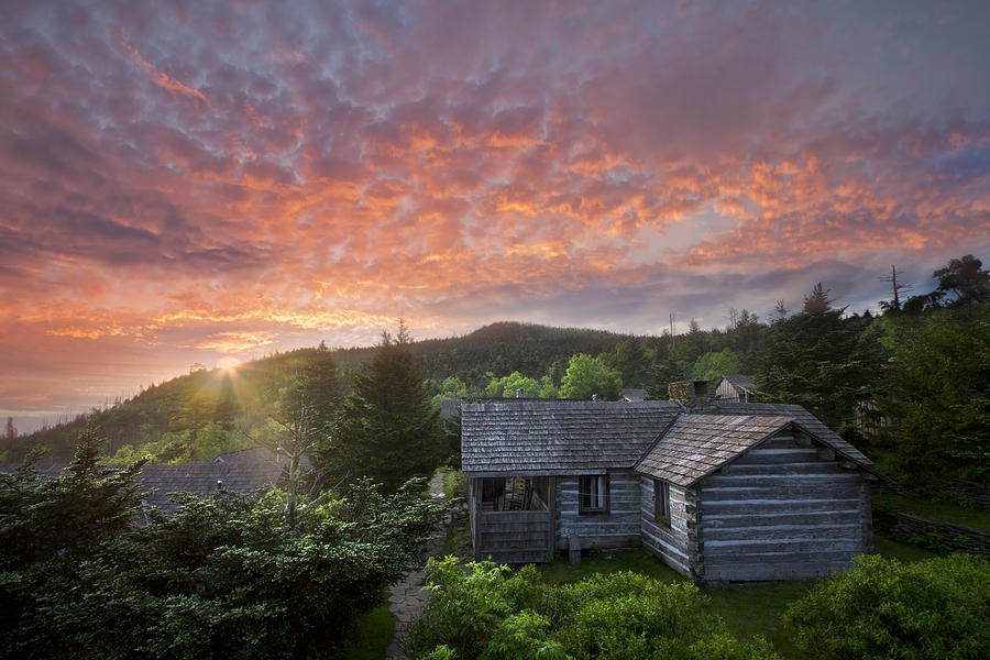 Appalachia Photograph - Dawn Over Leconte by Debra and Dave Vanderlaan