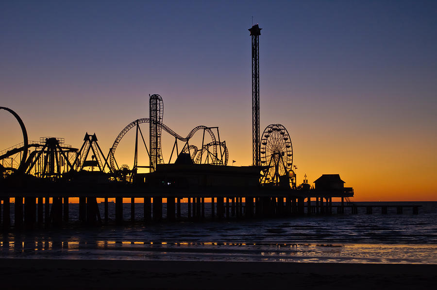 Dawn Over the Pier by John Collins