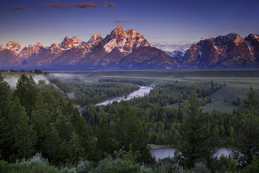 Grand Teton Photograph - Dawn Over The Tetons by Andrew Soundarajan