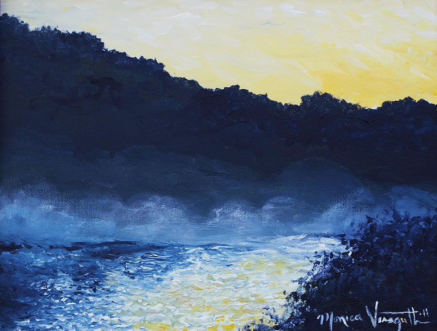 Painting Painting - Dawn Reflections by Monica Veraguth