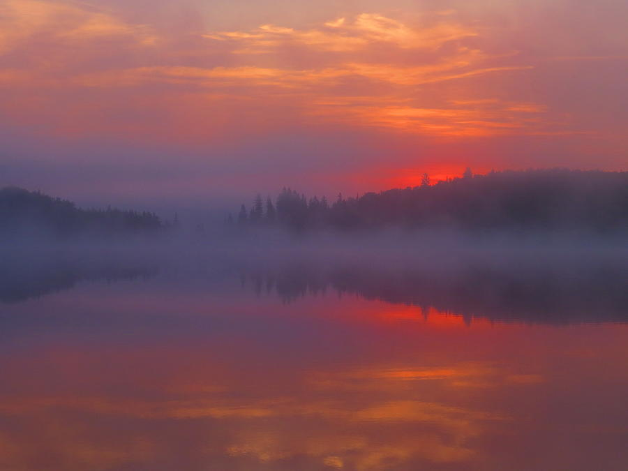 Dawn Skyfire At Round Lake Photograph by Alex  Call