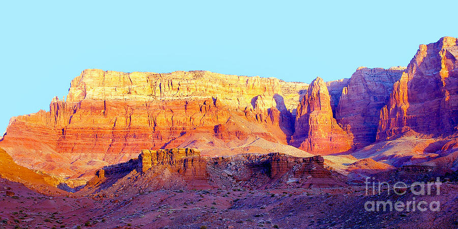 Dawn Photograph - Dawn - Vermillion Cliff And Cathedral Canyon by Douglas Taylor