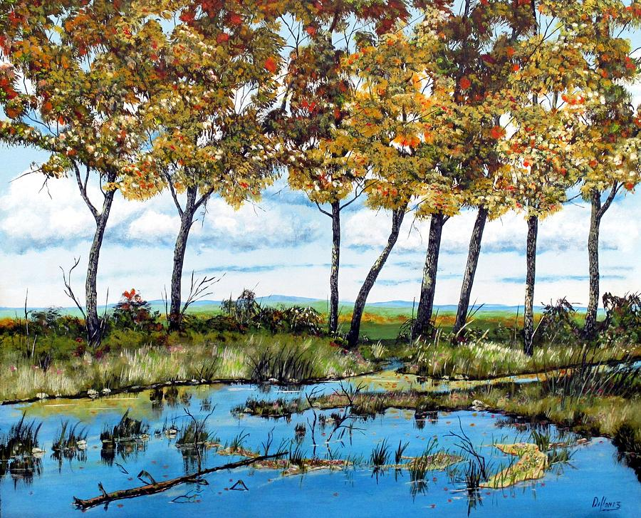 Dawns Blue Waters Edge Painting