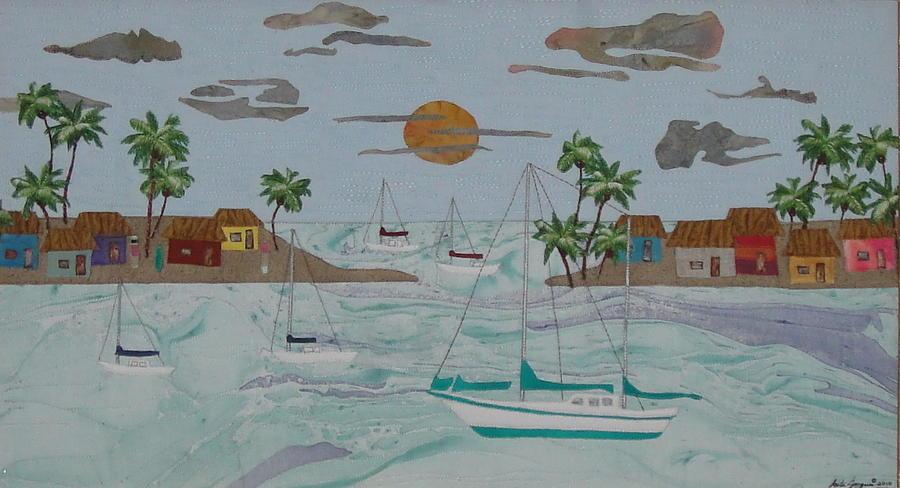 Bay Painting - Day at Bay by Anita Jacques