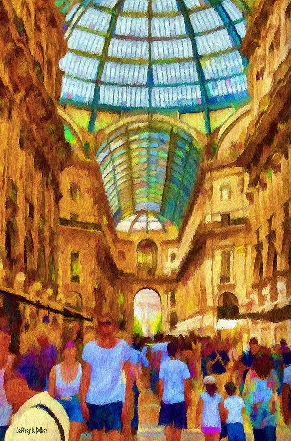 Galleria Painting - Day At The Galleria by Jeffrey Kolker