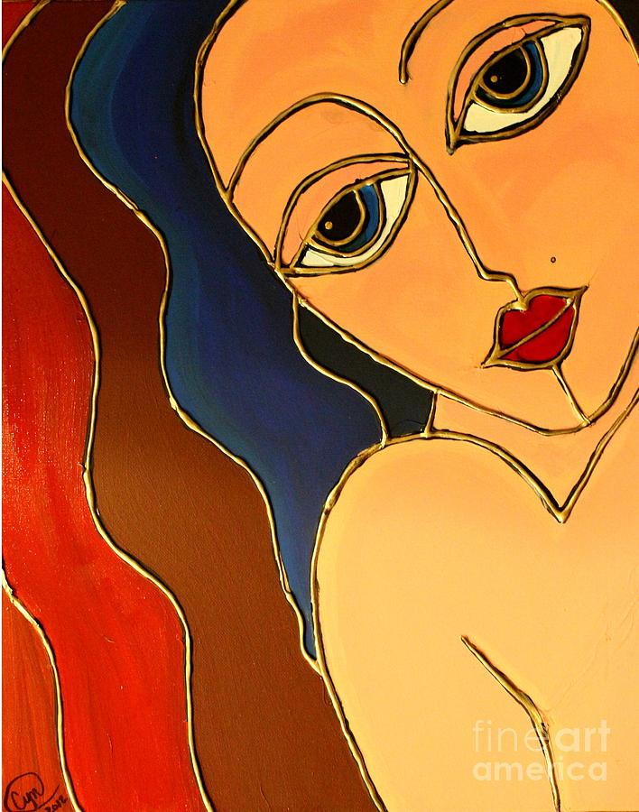 Lady Painting - Day Dream by Cynthia Snyder