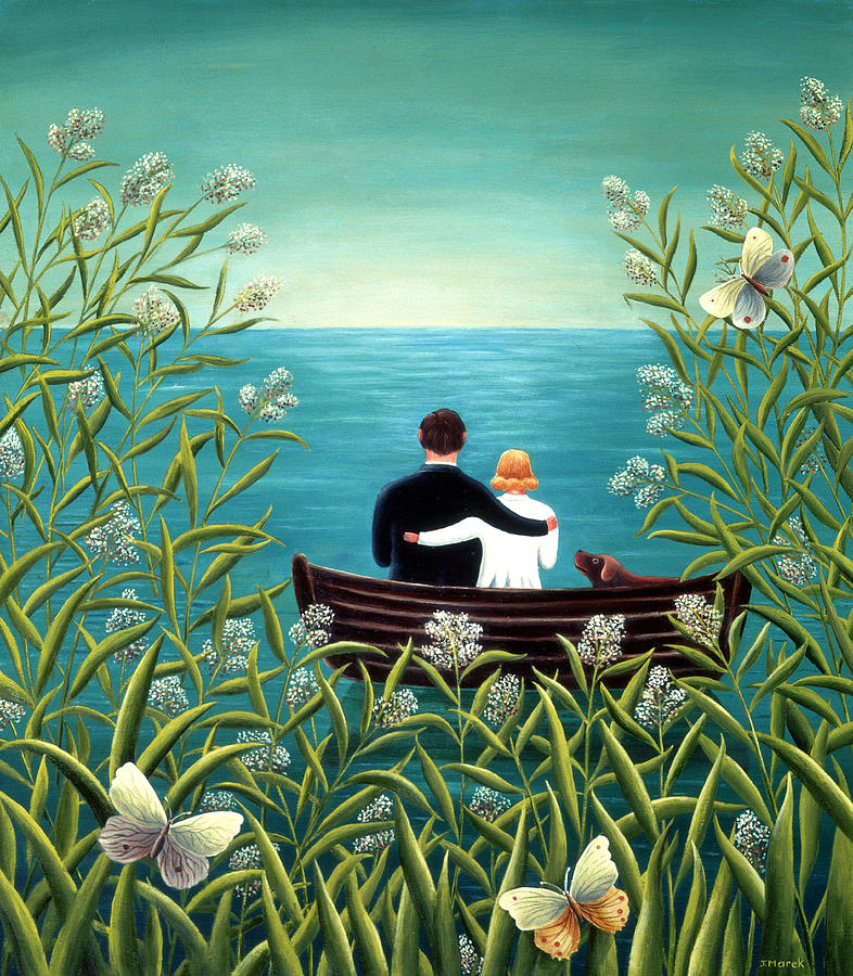 Together Painting - Day Dream by Jerzy Marek