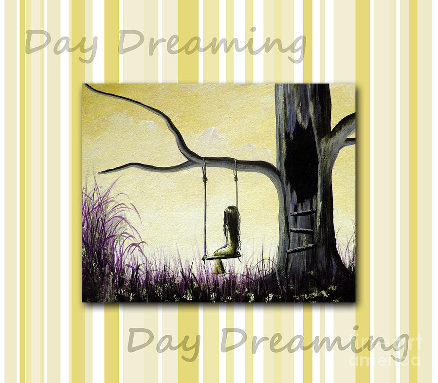 Nursery Decor Painting - Day Dreaming In Yellow By Shawna Erback by Shawna Erback