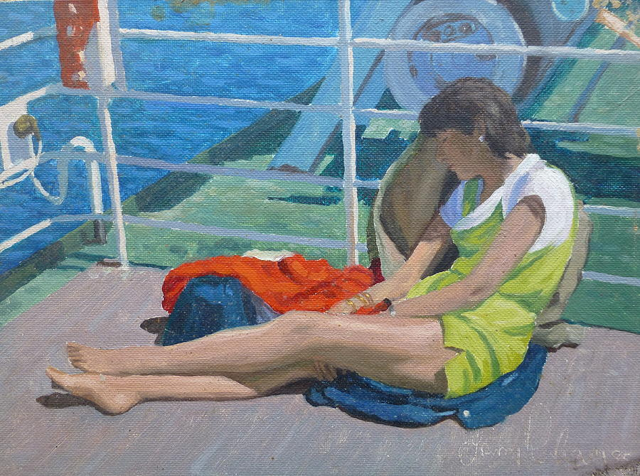 People Painting - Day Dreams by Terry Perham