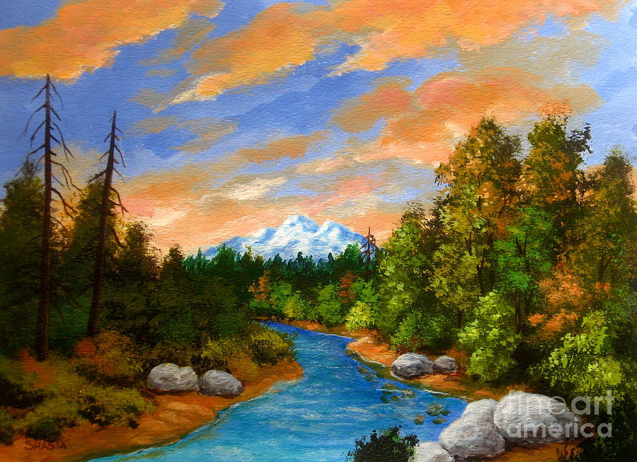 Landscape Painting - Day  Glow by Shasta Eone