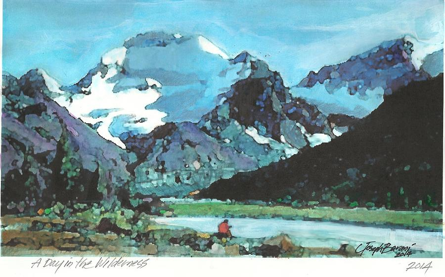 Mountains Painting - Day In The Wilderness by Joseph Barani