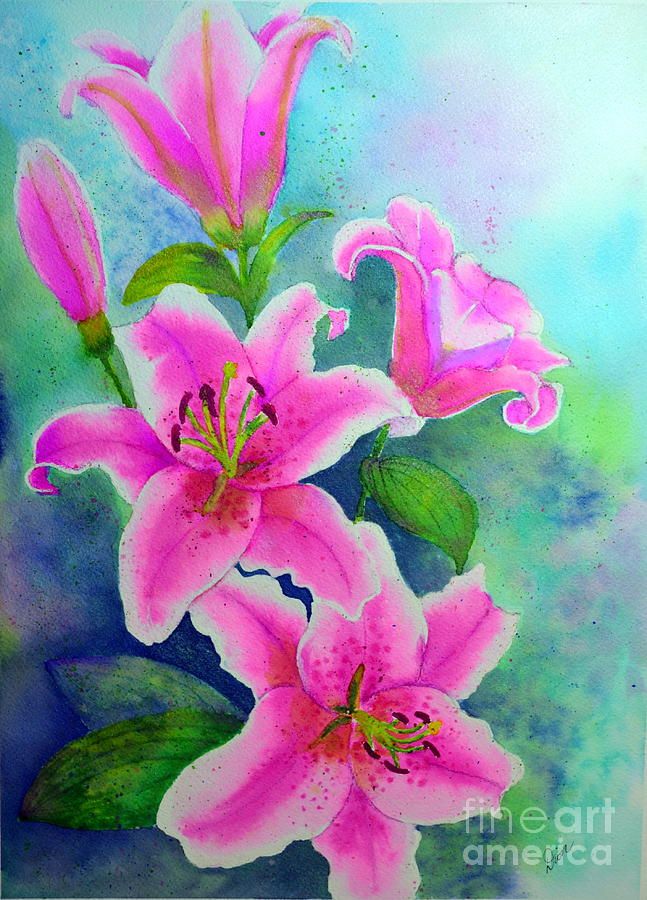 Day Lily Painting - Day Lily Delight by Dion Dior