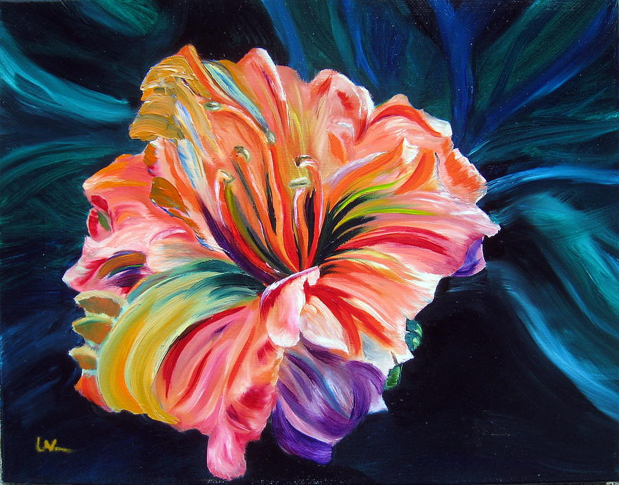 Flower Painting - Day Lily by LaVonne Hand