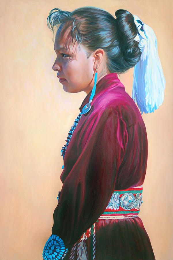 Native American Painting - Day of Honor by Christine Lytwynczuk