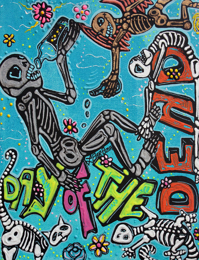 Day Of The Dead Painting - Day Of The Dead Celebration by Laura Barbosa