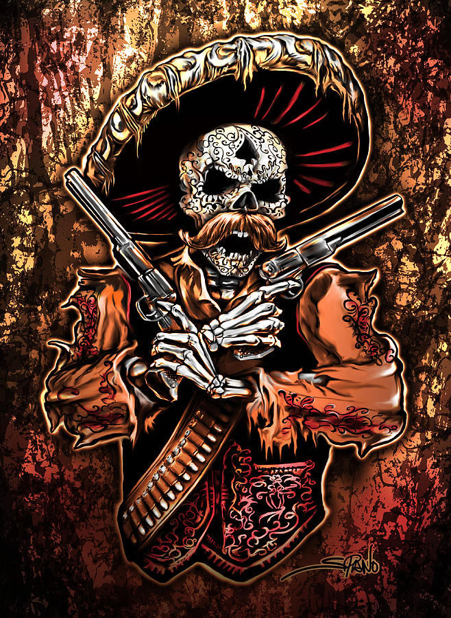Day of the Dead Gunslinger by Michael Spano